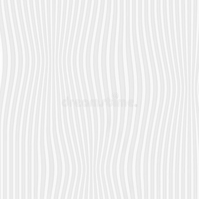 textura branca Teste padrão abstrato sem emenda expanda a linha geo da natureza ilustração stock