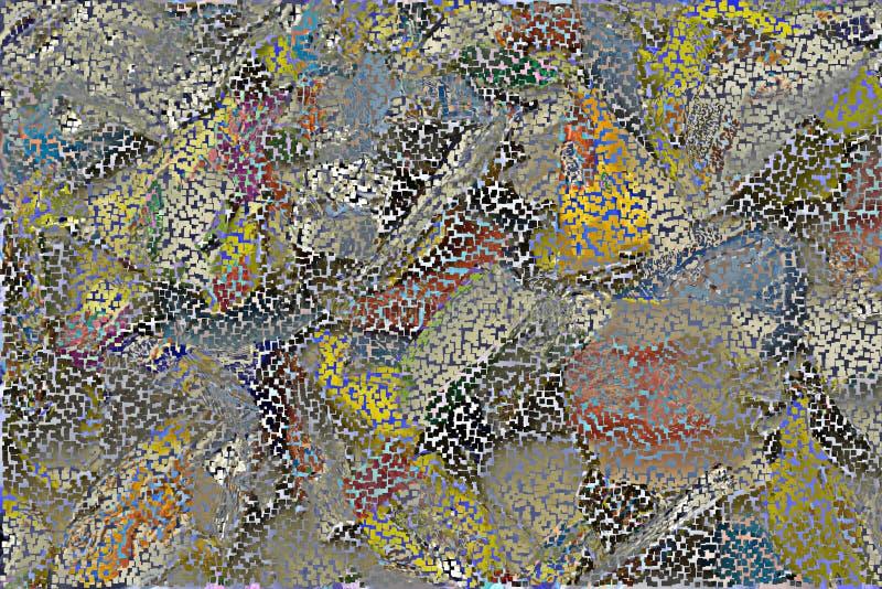 Textura brilhante aleatória do molde da estrutura dos quadrados vermelhos ilustração do vetor