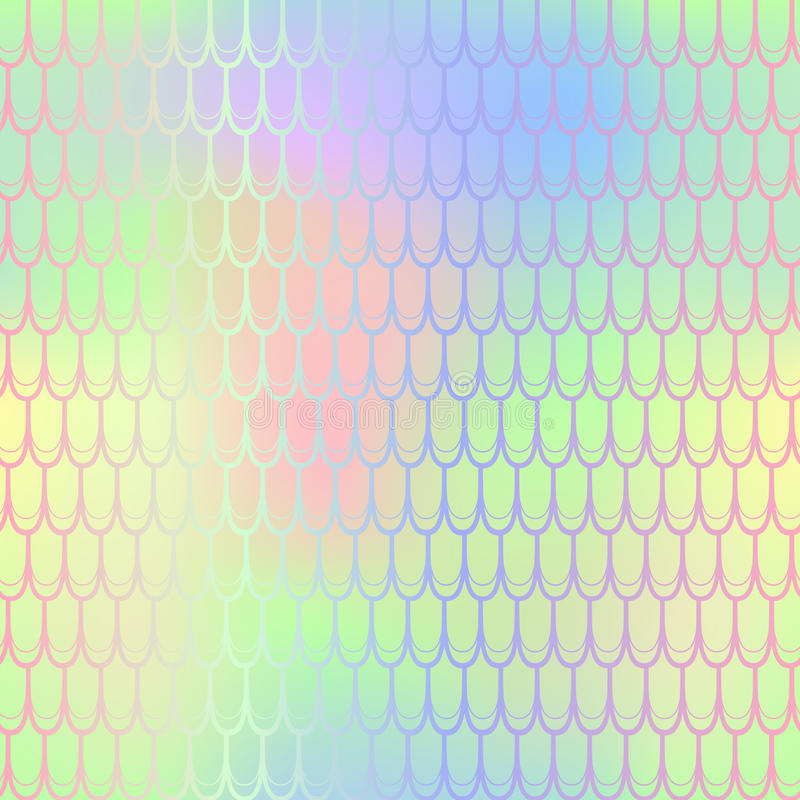 Textura brilhante do teste padrão da escala de peixes do verão Telha sem emenda do teste padrão da sereia ilustração do vetor