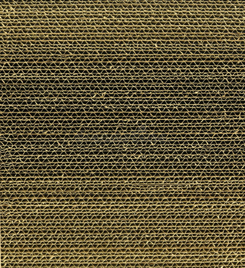 Textura cartão ondulado combinado na pilha do contexto fotos de stock royalty free