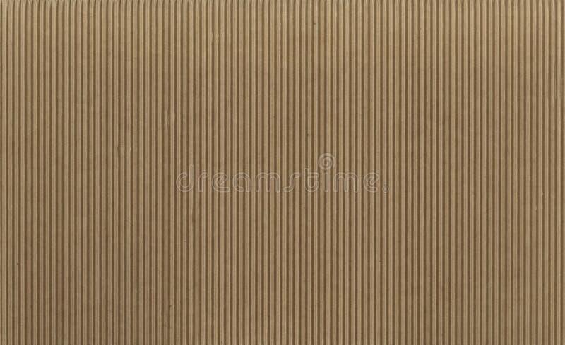 Textura - cartulina acanalada marrón clara fotos de archivo libres de regalías