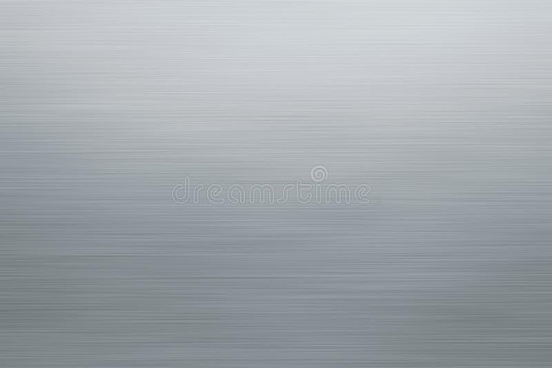 Textura cepillada de plata del metal o fondo inoxidable de la placa ilustración del vector