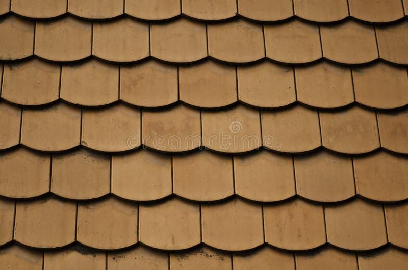 Textura cerâmica da telha de telhado imagem de stock royalty free