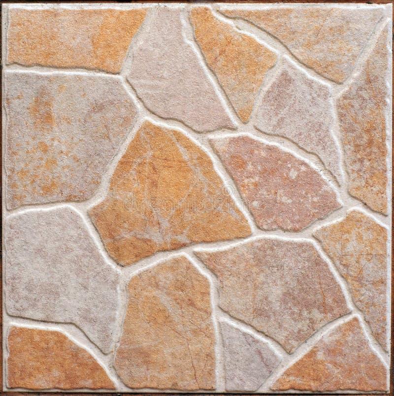 Textura cerâmica decorativa da laje de Brown imagem de stock