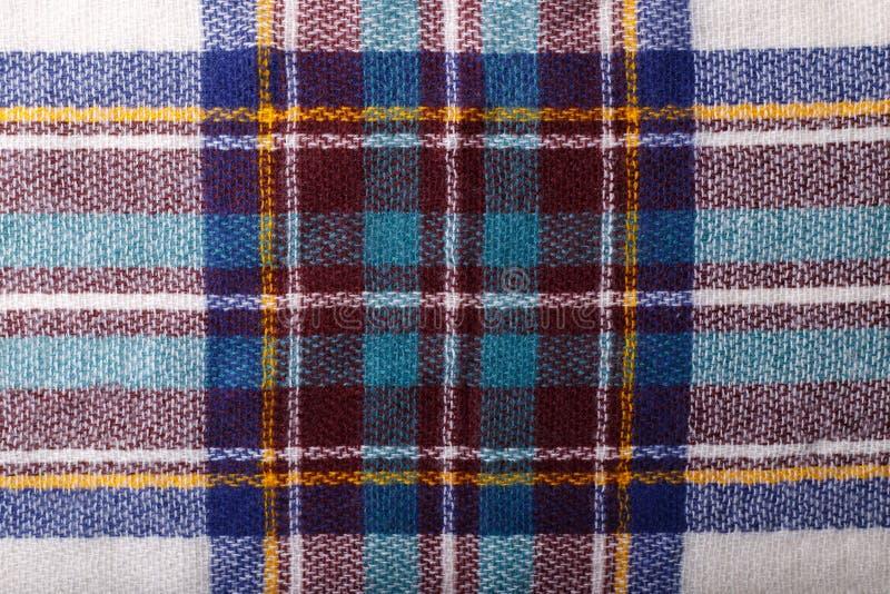 Textura Checkered da tela fotos de stock