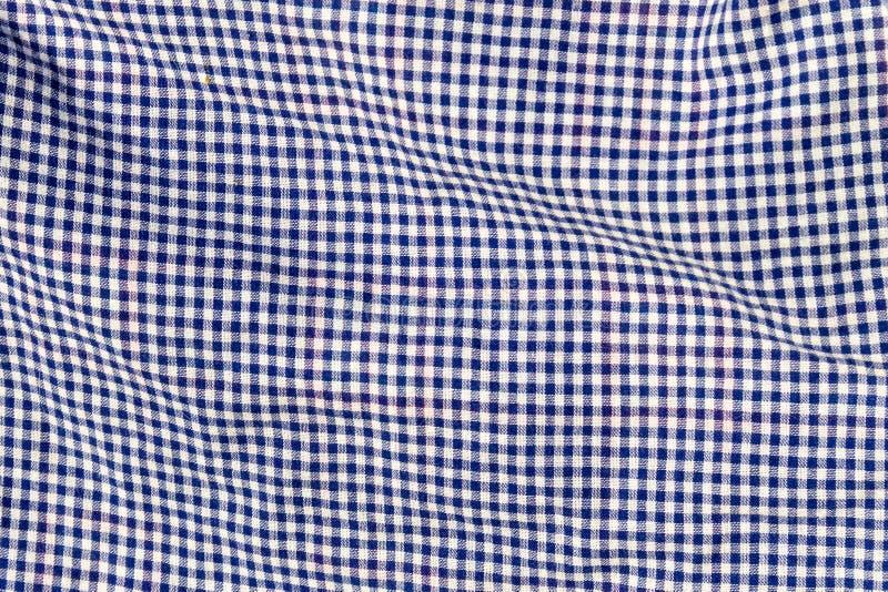 Textura Checkered da tela imagens de stock