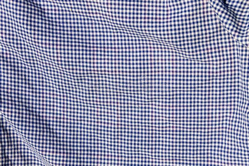 Textura Checkered da tela fotografia de stock royalty free