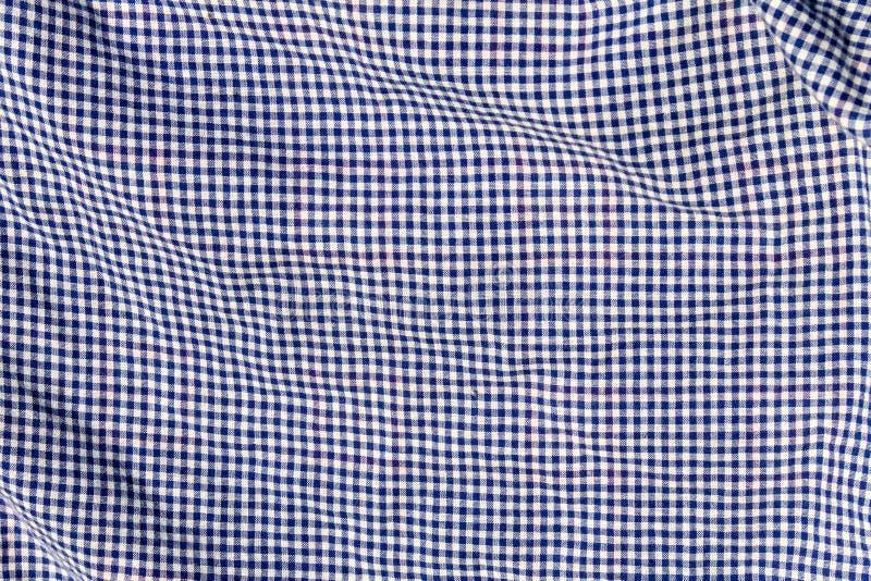 Textura Checkered da tela Fundo de pano fotografia de stock royalty free