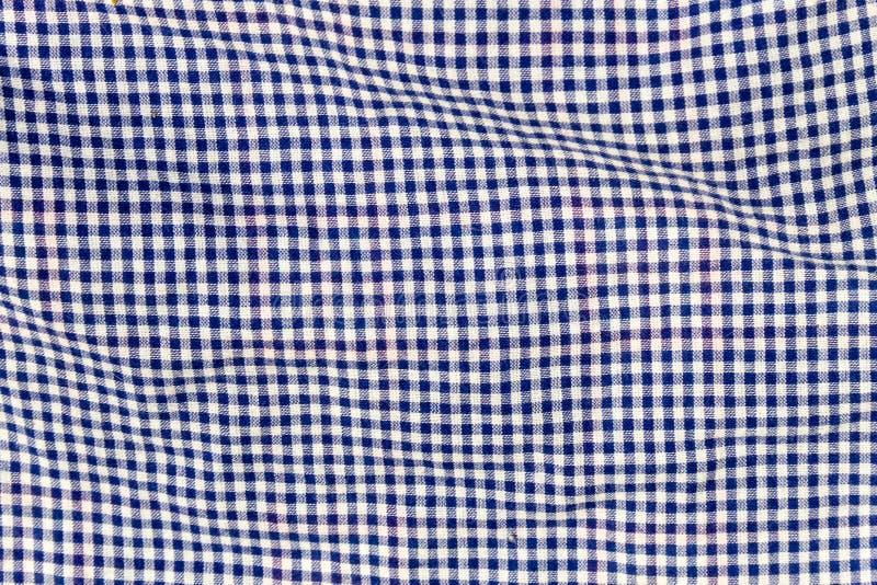 Textura Checkered da tela Fundo de pano imagens de stock