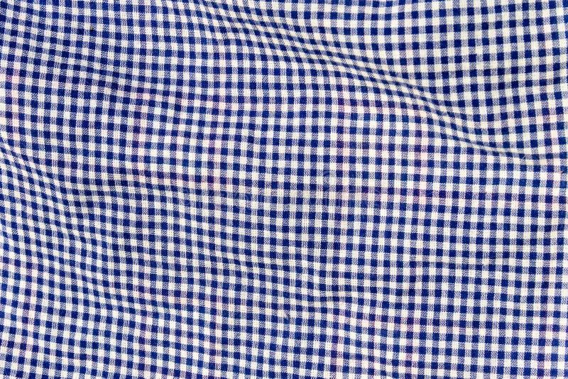 Textura Checkered da tela Fundo de pano imagem de stock royalty free