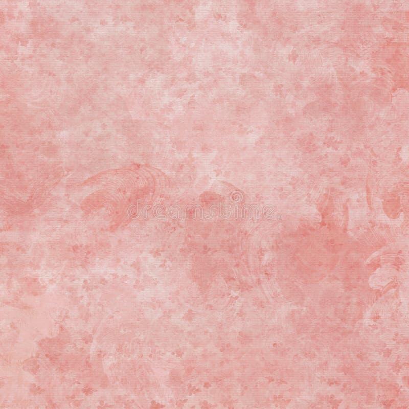 Textura chique gasto do fundo do sumário do rosa do guache ilustração do vetor
