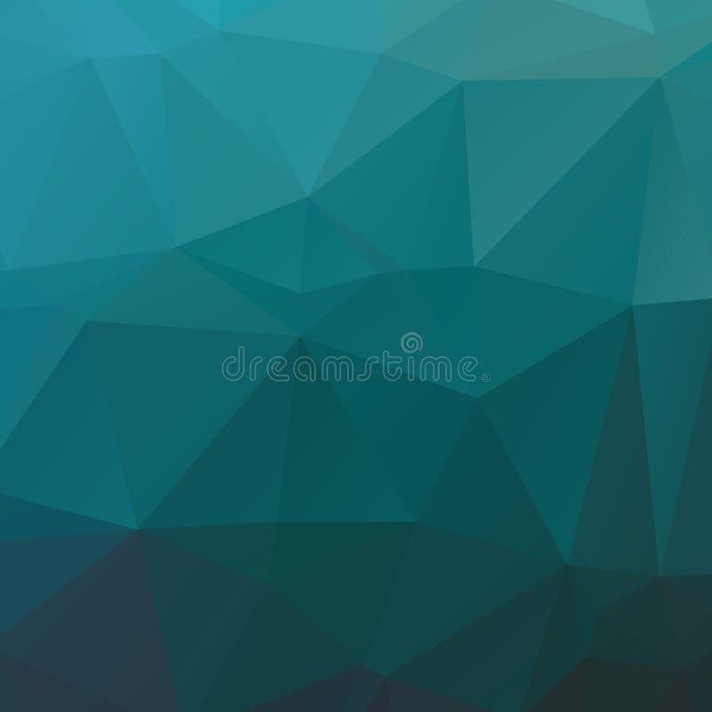 Textura ciana abstrata do polígono imagens de stock royalty free