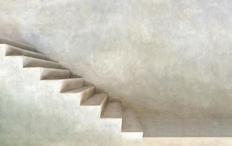 Textura cinzenta minimalista do fundo das escadas fotografia de stock royalty free