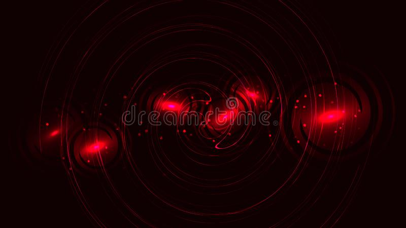 Textura circular roja con un efecto del bokeh, un contexto potente hermoso apacible enérgico mágico que brilla intensamente del e stock de ilustración