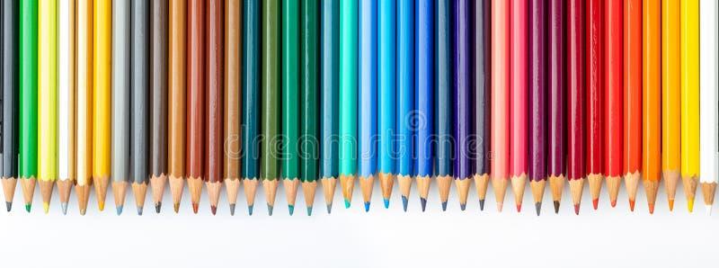 Textura coloreada de los l?pices foreground Colores de la primavera y del verano Comienzo de la escuela, de clases Papel pintado  imagen de archivo libre de regalías