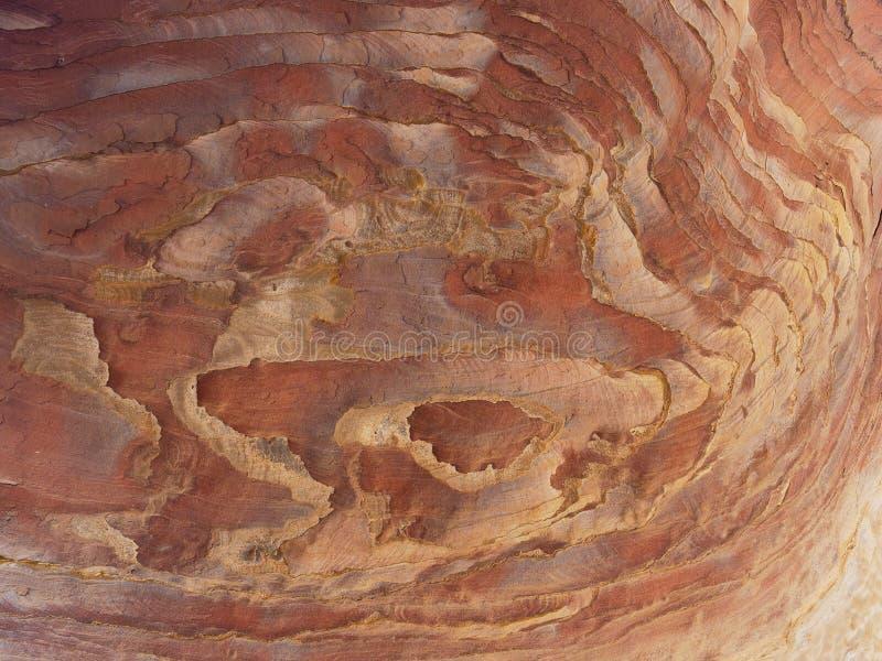 Textura coloreada Petra Jordan de la piedra arenisca foto de archivo libre de regalías
