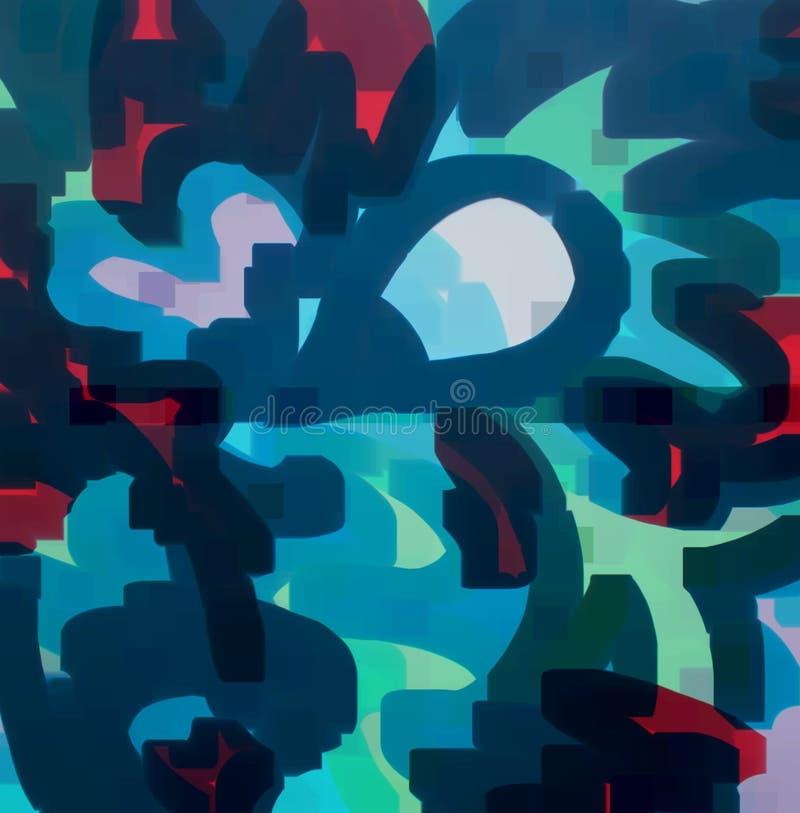 Textura colorida abstrata ilustração stock