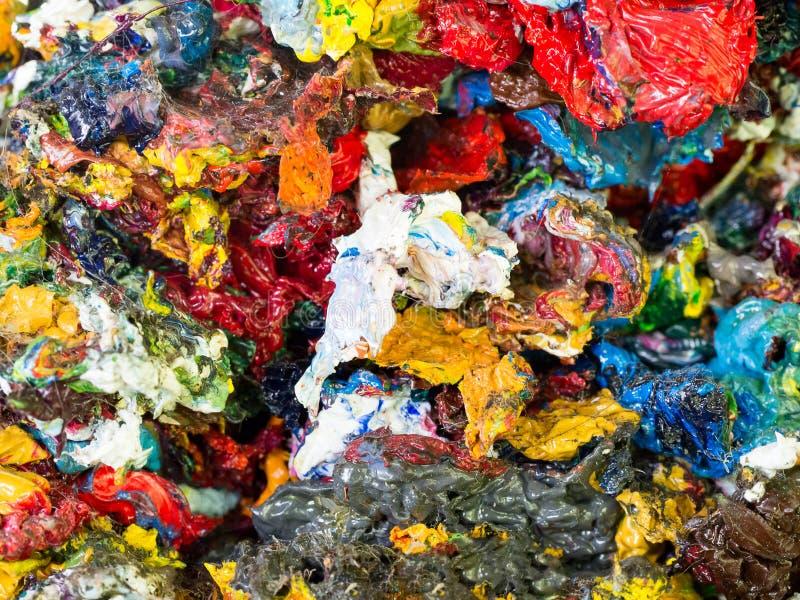Textura colorida abstrata de cor de água não utilizada do óleo com cor vermelha, verde, amarela, azul, cinzenta, alaranjada imagens de stock