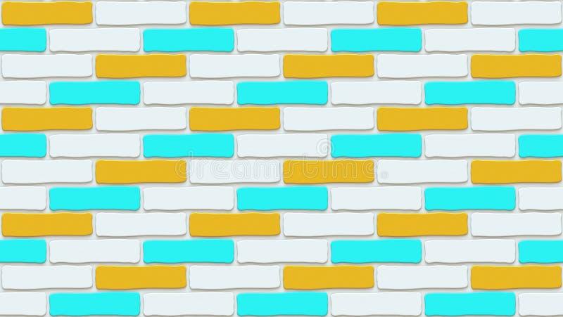 Textura colorida da parede de tijolo Fundo vazio O vintage obstr?i-se Interior do projeto da sala ilustração royalty free