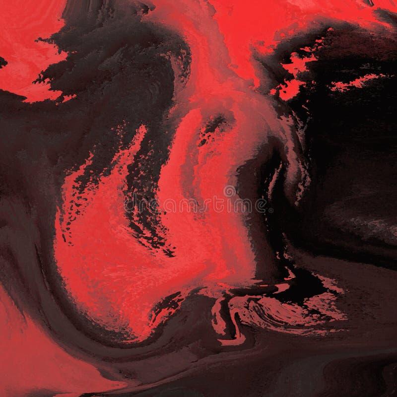Textura colorida de la pintura del extracto Fondo dinámico en tonos rojos Arte moderno Modelo de las mezclas del movimiento foto de archivo