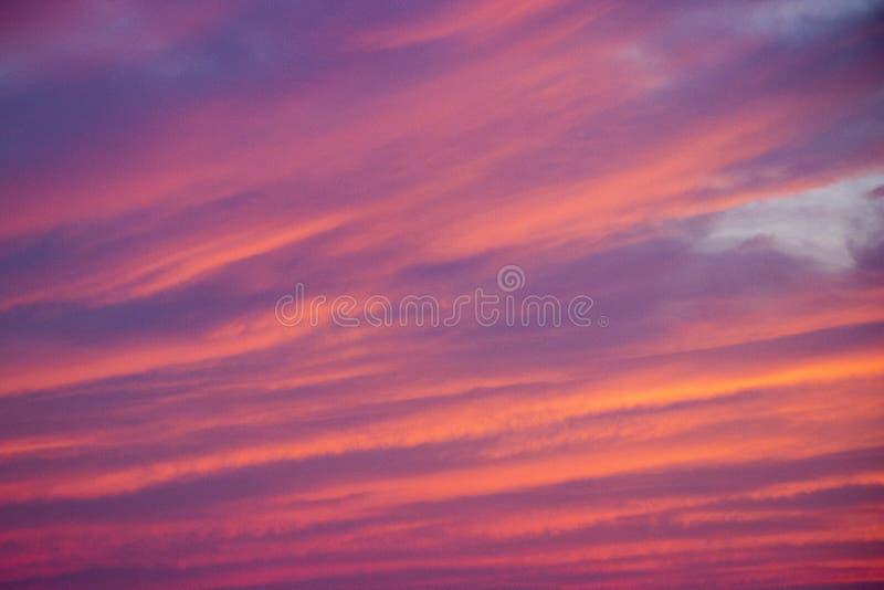 Textura colorida de la puesta del sol del verano foto de archivo libre de regalías
