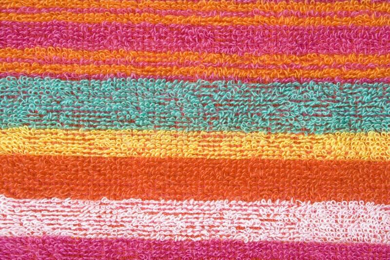 Textura colorida de la tela foto de archivo