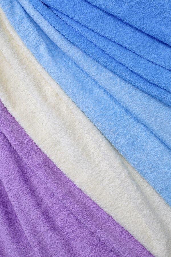 Textura colorida de matéria têxtil de terry fotos de stock