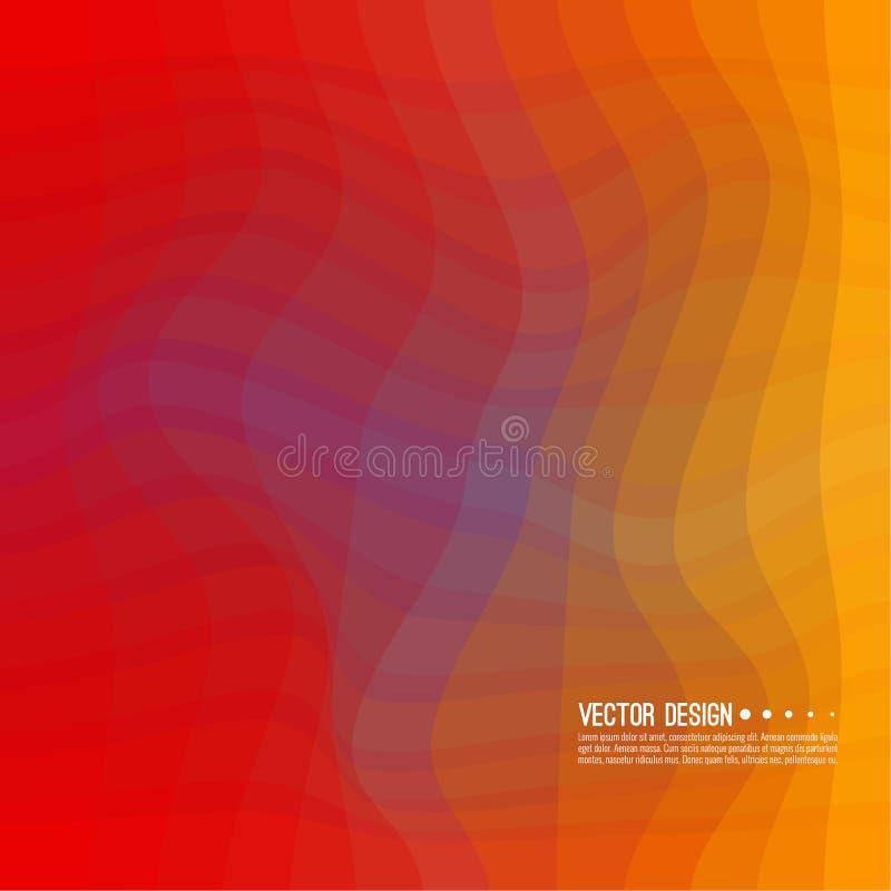 Textura colorida distorcida da onda ilustração stock
