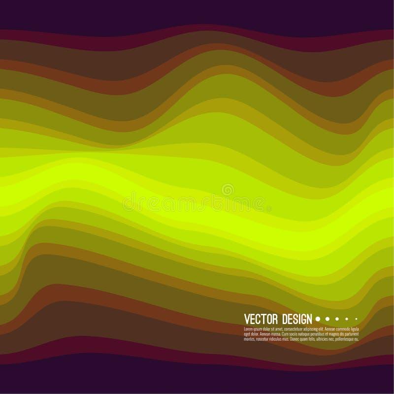 Textura colorida distorcida da onda ilustração do vetor