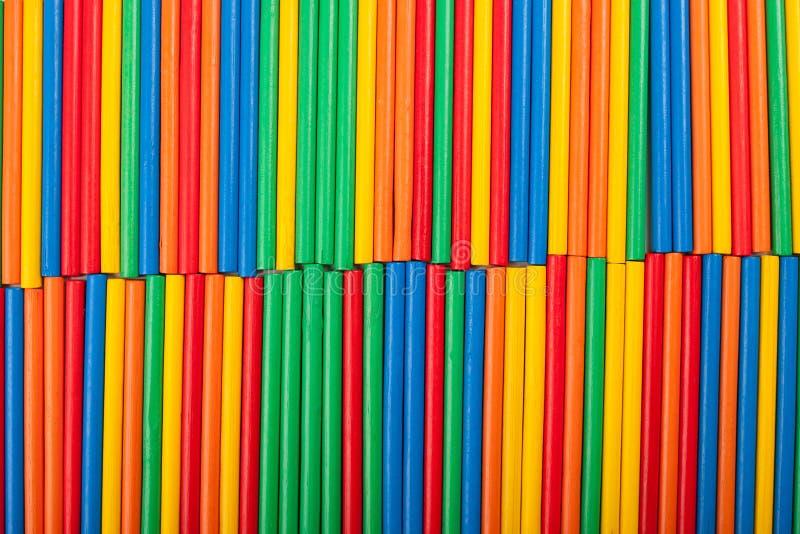 Textura colorida do fundo das varas foto de stock