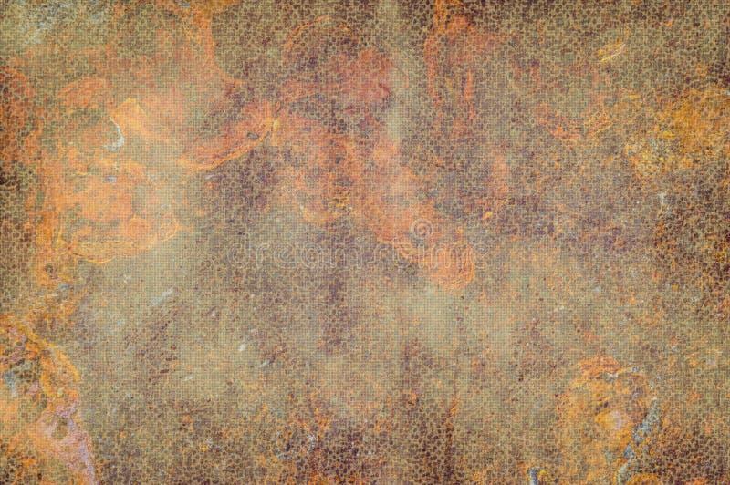 Textura colorida do metal da oxidação ilustração stock