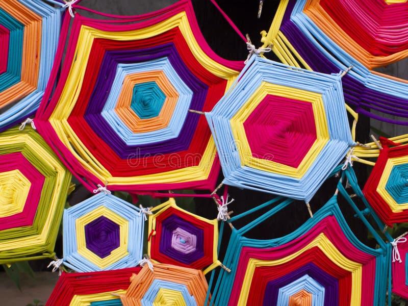 Textura colorida feito a mão do teste padrão de matéria têxtil da tela para o fundo abstrato do ofício fotos de stock royalty free