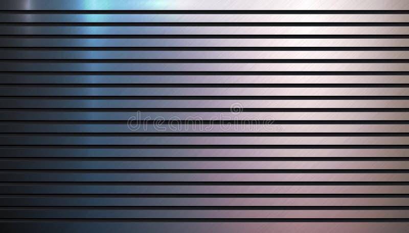 Textura colorida lustrada do sulco do fundo do metal ilustração royalty free