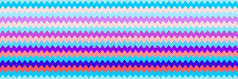 textura colorida sem emenda horizontal do ziguezague para o teste padr?o e o fundo ilustração royalty free