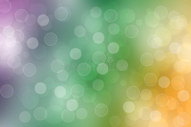 Textura colorida viva fresca del fondo del arco iris de la fantas?a del extracto con el modelo de las esferas y las luces defocus libre illustration