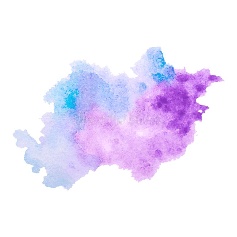 A textura colorido do respingo da aquarela do vetor borra o fundo isolado Gota, ponto e gotas tirados mão do Grunge Sp do Waterco ilustração stock