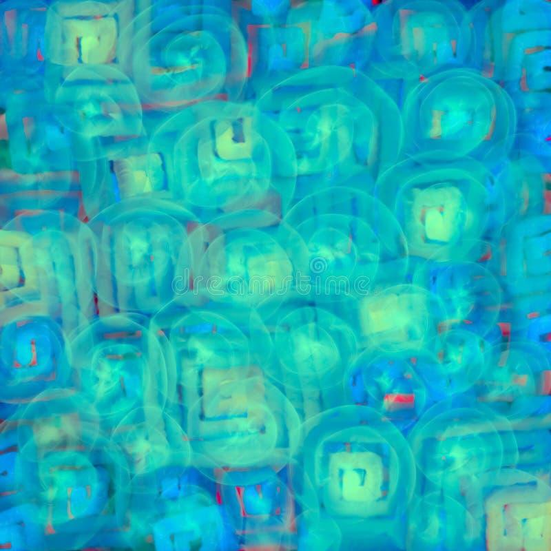 A textura com círculos macios verdes ilumina a abstração para um fundo ilustração stock