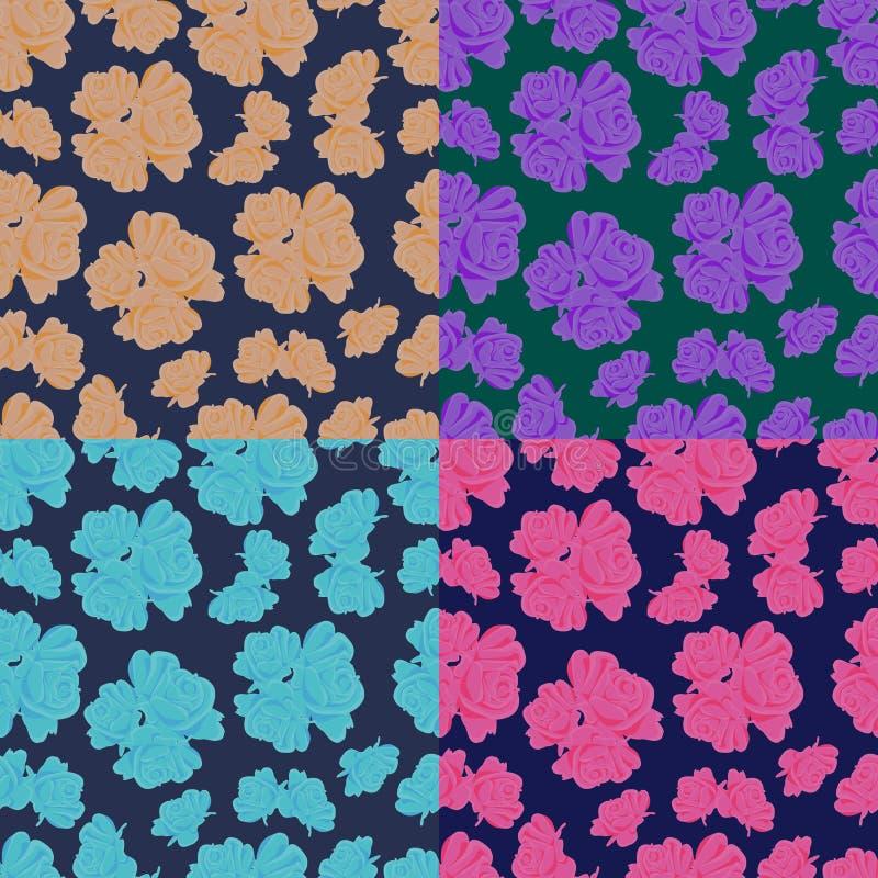 Textura com rosas foto de stock