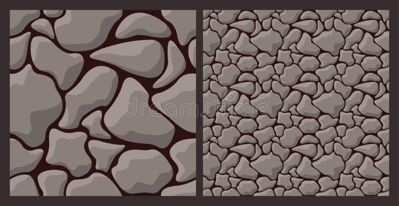 Textura con la piedra áspera stock de ilustración