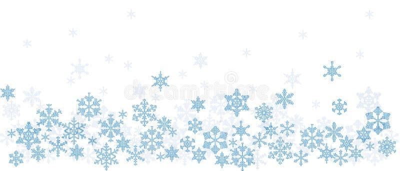 Textura con los copos de nieve stock de ilustración
