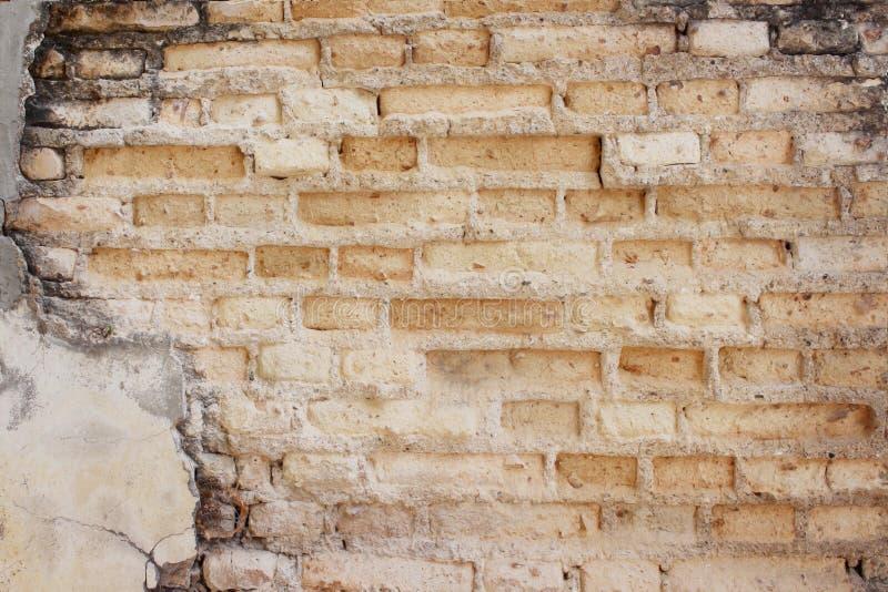 Textura concreta antiga dos testes padrões da parede de tijolo para o fundo fotografia de stock royalty free