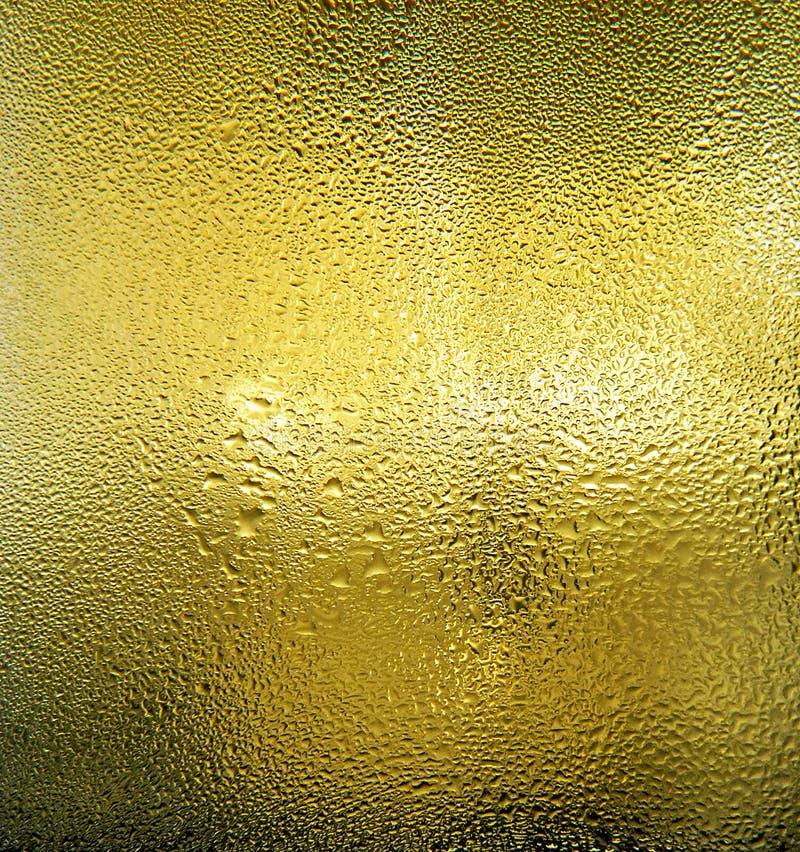 Textura condensada de la cerveza fotos de archivo