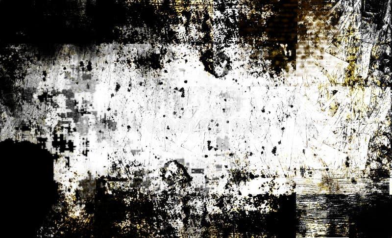 Textura contemporánea del grunge de los arty stock de ilustración