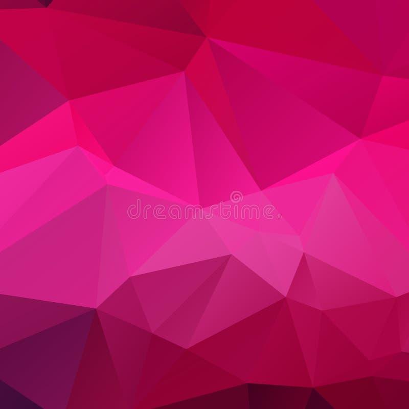 Textura cor-de-rosa abstrata do polígono imagem de stock