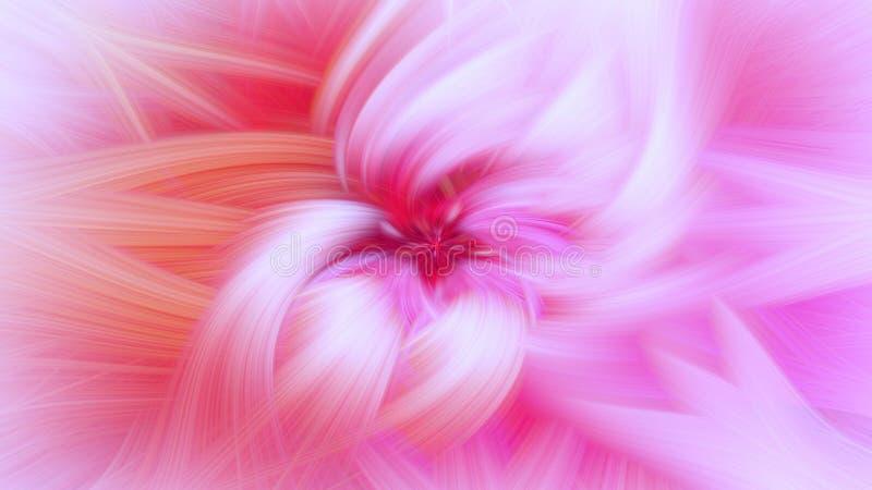 Textura cor-de-rosa da explos?o do fundo brilhante delicado do fractal ilustração stock