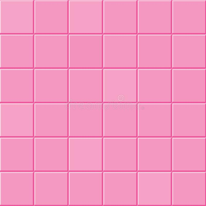 Textura cor-de-rosa da telha ilustração royalty free