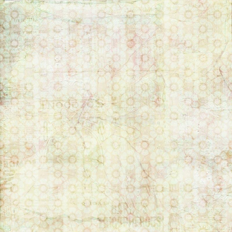 Textura cor-de-rosa do fundo do verde chique gasto do vintage imagem de stock royalty free