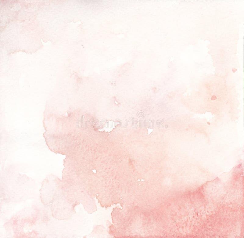 Textura cor-de-rosa do fundo dos salmões e do coral da aquarela ilustração do vetor