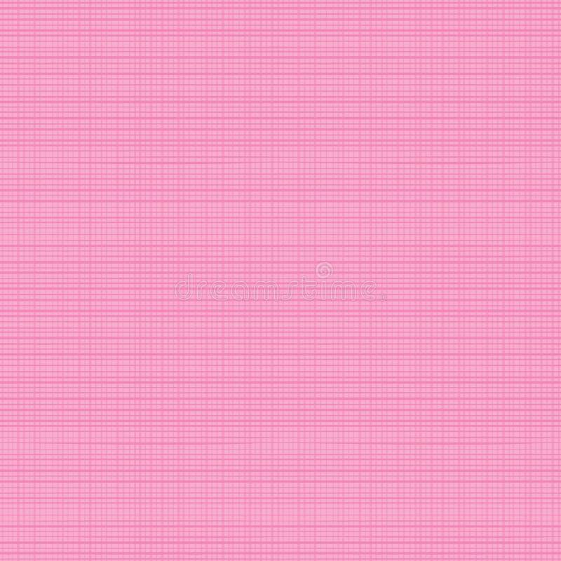 Textura cor-de-rosa sem emenda da tela ilustração stock