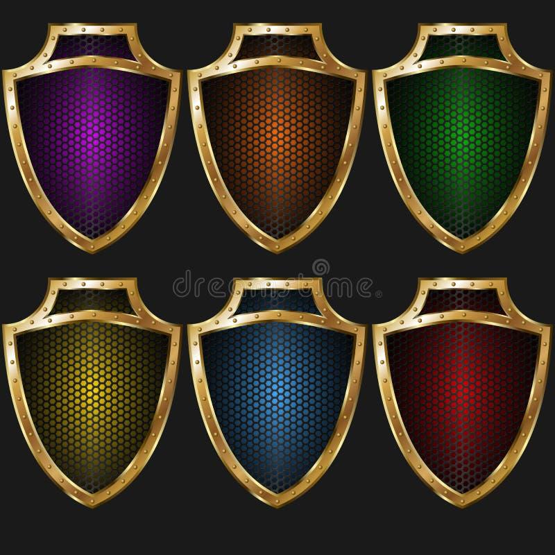 Textura-cor do protetor do ouro imagem de stock royalty free
